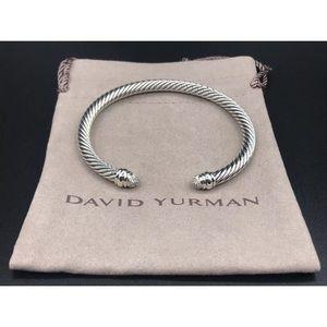 David Yurman Diamond Cuff Bangle 5mm Cable